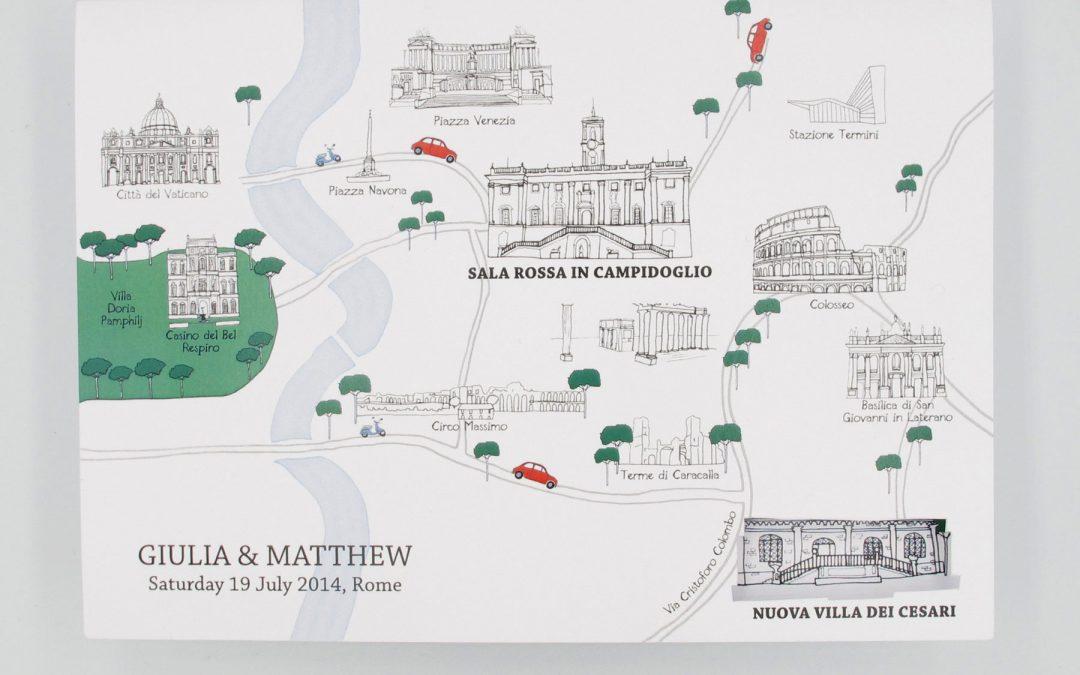 Rome Wedding Invitations