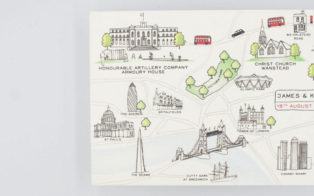 London Map Invitations