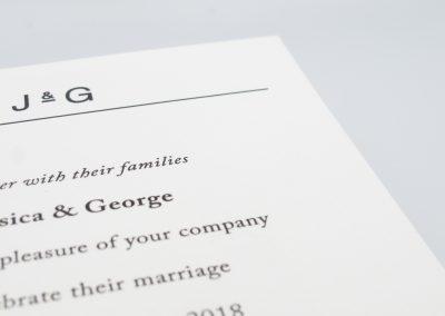 'Initial' Wedding Invitations