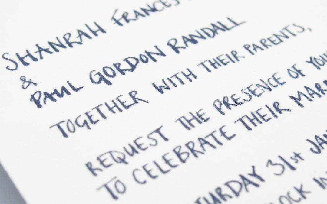 Handwritten & Hand-drawn Invitations