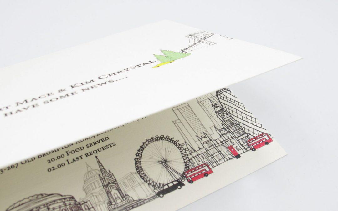 New York – London Wedding Invitation