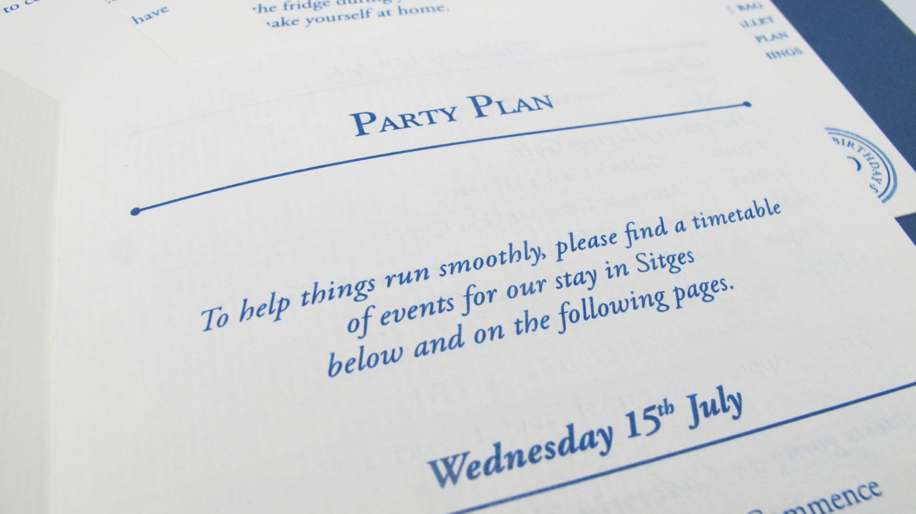 70th Birthday Event Stationery