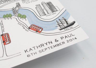 London Map Wedding Invitation