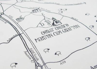 Hand-drawn Wedding Map