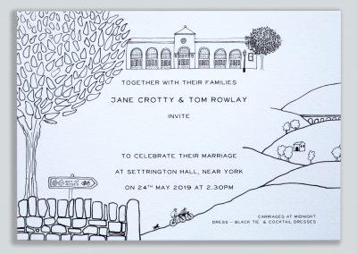 Yorkshire Cycling Wedding Invitations