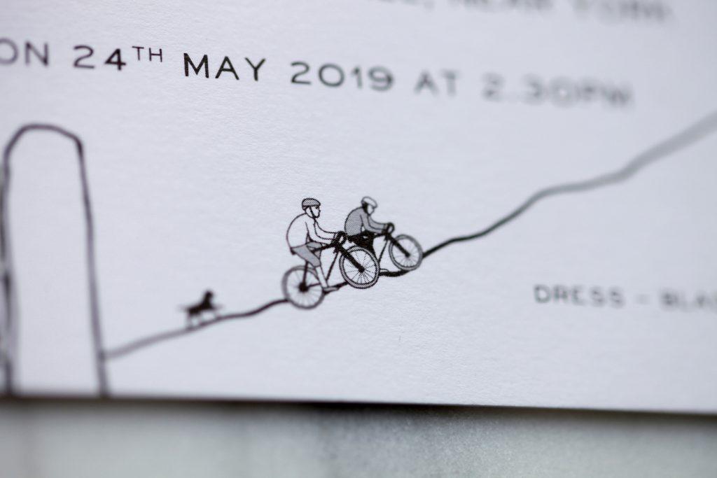 Yorkshire Cycling Wedding Invitation